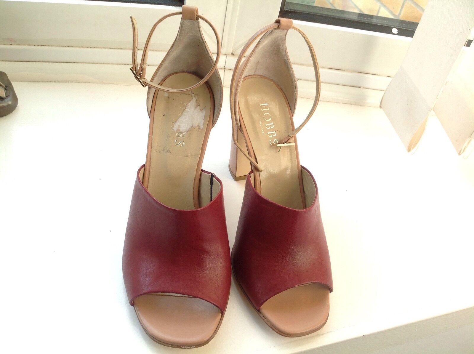 HOBBS Freya Oxblood Pink Sandals.Size 6UK.