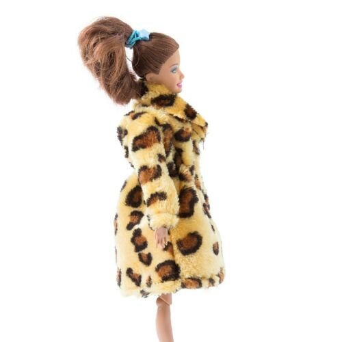 Brown Leopard Handmade Fashion Doll Clothes For 1//6 Doll Coat Dress Kids Toy