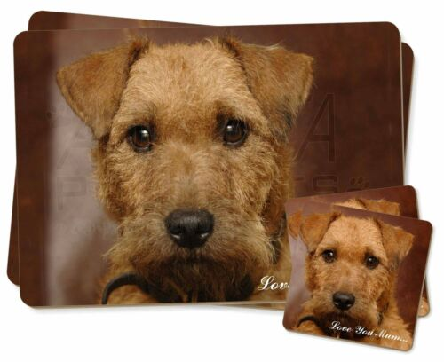 Lakeland Terrier Dog 'Love You Mum' Twin 2x Placemats+2x Coasters S, ADLT2lymPC