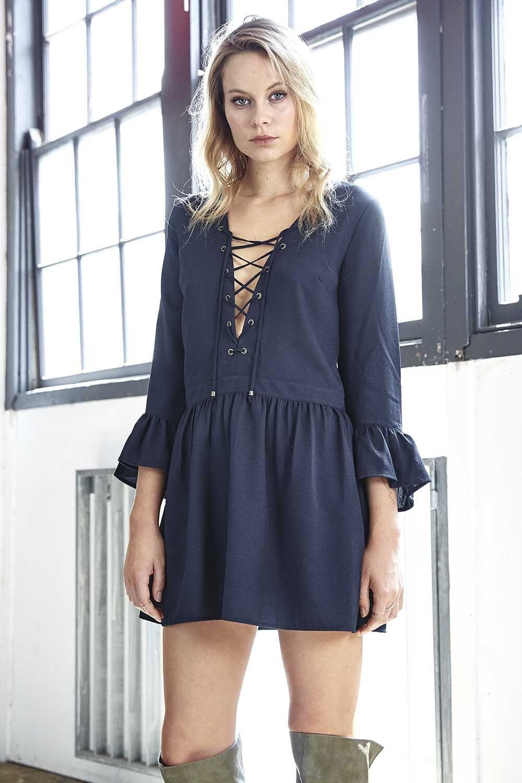 NEW ALPINE DRESS NAVY THREE OF SOMETHING MED 10 & large  12