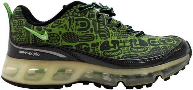 c1f357e115 Nike Air Max 360 Rejuvenation Black/Green Bean-White 313520-031 Men's SZ