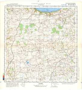 Map Of Uk Devon.Details About Russian Soviet Military Topographic Maps Bradworthy Uk Devon Ed 1980