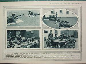 1915 Première Guerre Mondiale G.mondiale 1 Imprimé ~ Apprentissage à Tir à La 5ocyiakw-07233750-641194203