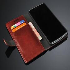 OnePlus One handy tasche dunkelbraun case Brieftasche klapp schutz hülle cover
