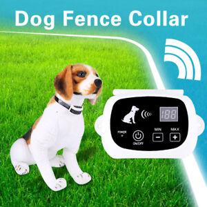 Recinto Elettrico Per Cani.Dettagli Su Kit Recinto Elettrico Impermeabile Recinzione Collare Per Cane Wireless Collar