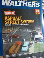 Walthers Cornerstone Series Kit HO Scale Full Set Asphalt Street System - 00616374039562 Toys