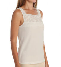CUDDL DUDS Softech Square Neck Ivory Camisole Size Large
