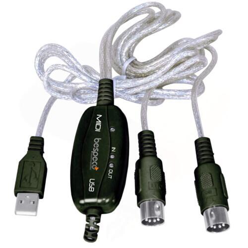 Bespeco BMUSB100 Cavo USB MIDI per Tastiera//PC