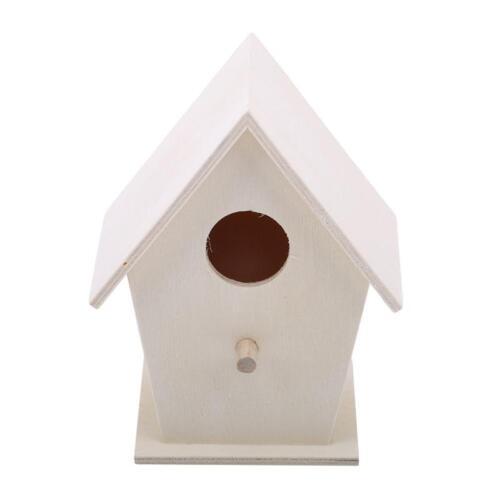 Outdoor Hanging Wooden Bird House Small Nesting Wild Bird Feeder Station C