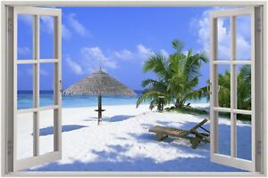 Huge-3D-Window-view-Exotic-Beach-Wall-Sticker-Film-Mural-Art-Decal-84