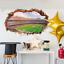 Wandtattoo-Wandsticker-Wandaufkleber-Kinderzimmer-Fussball-3D-Stadion-138-1 Indexbild 1