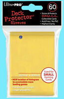 60 Ultra Pro Deck Protector Card Sleeves Yellow Yugioh 1 Pack Small Size
