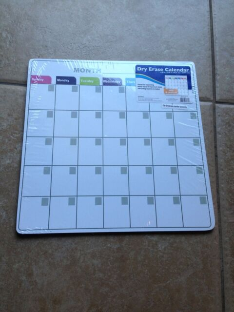 """Dry Erase Calendar Board 11 3/4"""" x 11 3/4""""!!! NEW!! Can be used for any year!!!"""