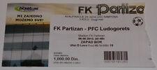 old TICKET CL 2013 Partizan Beograd Serbia Ludogorets Razgrad Bulgaria