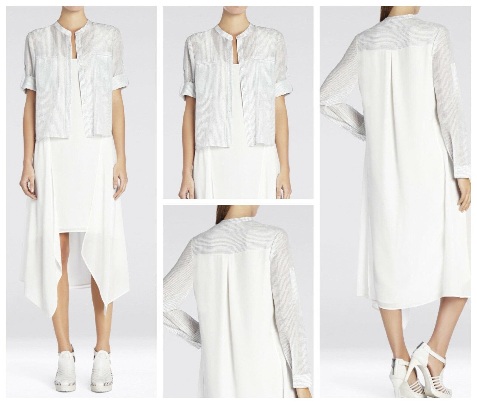 NEW BCBG MAX AZRIA RUNWAY  MARINE  TALC DRESS sz XXS