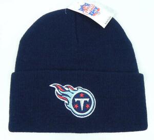 TENNESSEE-TITANS-NFL-FOOTBALL-VTG-NAVY-BLUE-KNIT-CUFFED-BEANIE-CAP-HAT-NEW