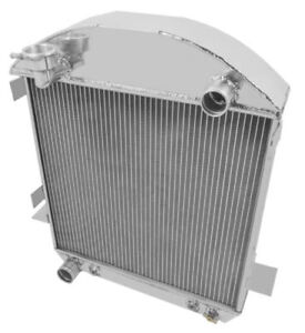 For Ford Model T Bucket Chevy Engine 1924-1927 3-Row Aluminum Radiator /& FAN