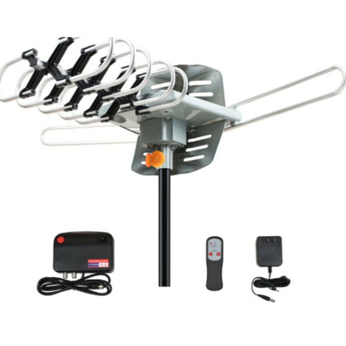180 Miles Outdoor TV Antenna motorized Amplified HD TV High Gain 28-36dB UHF VHF