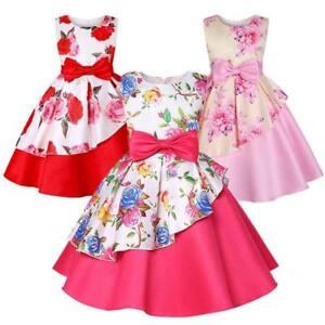 Tutu-De-Flores-Nina-Bebe-De-Boda-Vestido-De-Princesa-Nina-Formal-Vestidos-Fiesta-Dama-de-honor
