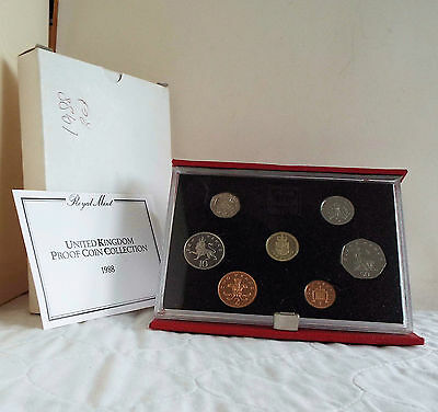 1988 ROYAL MINT 7 COIN DELUXE PROOF SET - complete