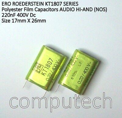 0,22uF MKT1807 Audio HI-END 5 pezzi Condensatore ERO ROEDERSTEIN 220nF 400V