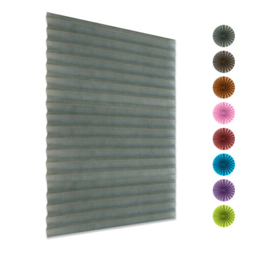 Pleated Blind Window Curtain Shades Temporary Blackout Pull Down Rolling Blinds