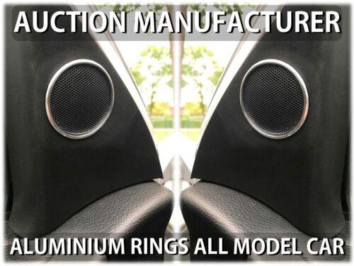 Vauxhall Opel Astra G II Chrome Rings Surrounds For Door Speakers Tweeters 2pcs