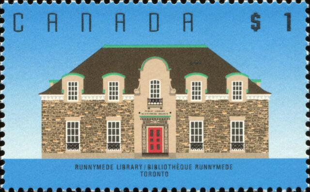 Canada Scott 1181 Runnymede Library, Toronto, ON  VF MNH OG (20339)