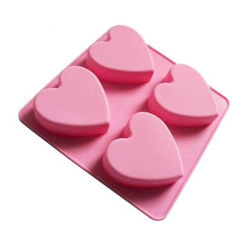 Heart-shaped Silicone Mold Fondant Cake Decor Chocolate Baking Soap Ice DIY Tool