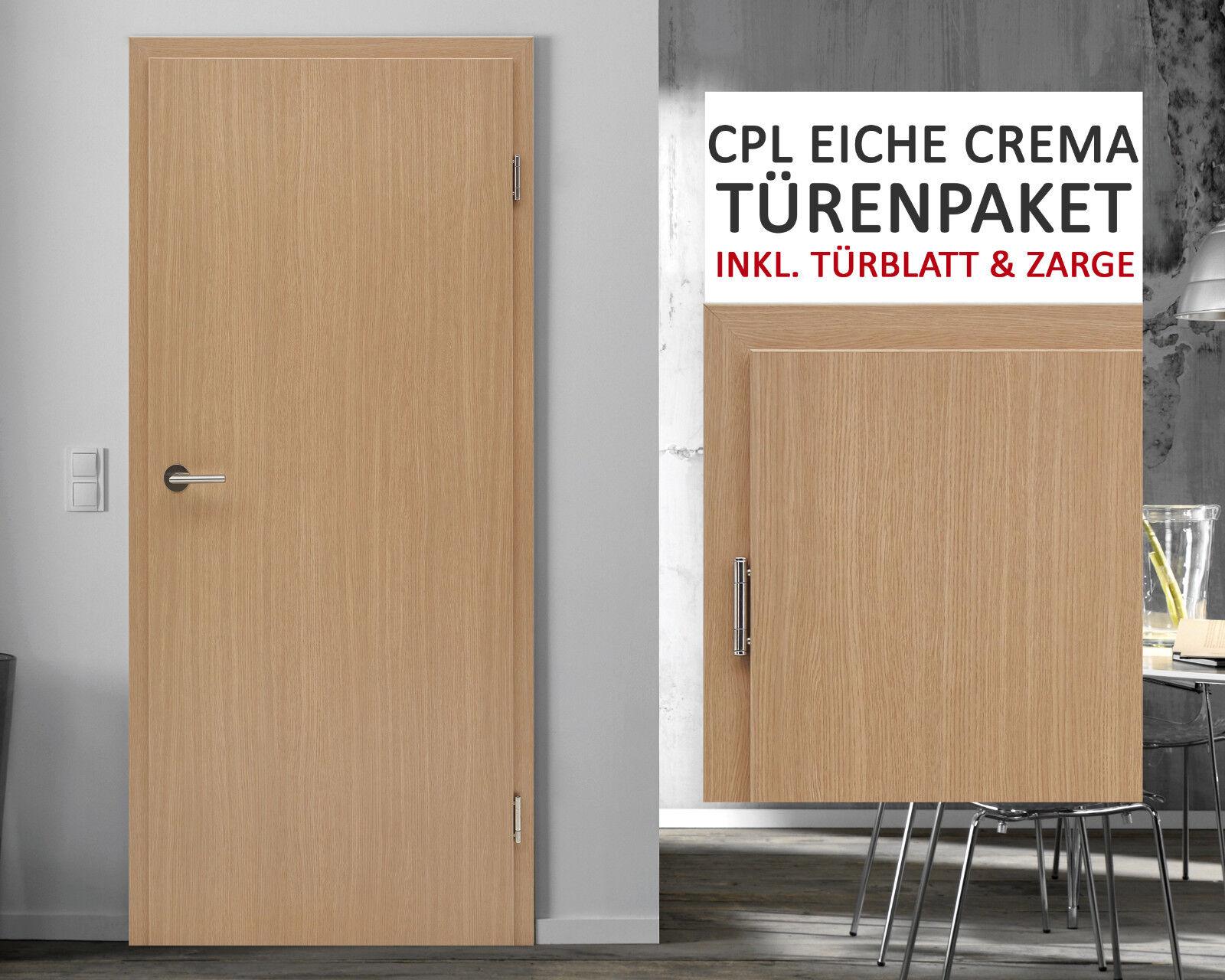 Kuporta CPL Zimmertüren Innentüren Eiche crema Innentür Zimmertür Tür mit Zarge