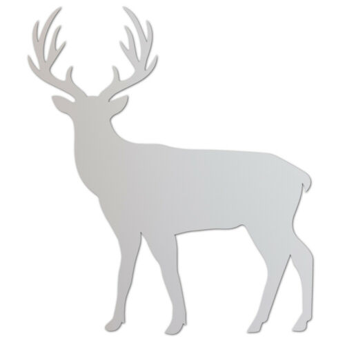 Acrylic Plastic Perspex Stag Laser Cut Craft Shape Decoration 13 Colours 3 Sizes