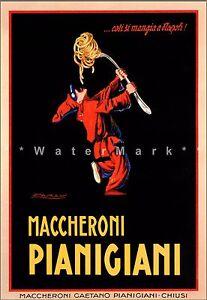 Pianigiani-Maccheroni-1922-Italian-Pasta-Art-Vintage-Poster-Print-Kitchen-Art