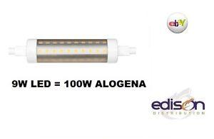 Lampadina lineare tubolare r7s 118mm 9w 100w di una for Lampada alogena lineare led