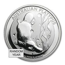 1 oz Australian Platinum Platypus Coin - Random Year - SKU #85029