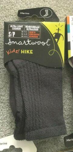 SmartWool Kids Hike Socks Merino Wool Navy Gray Brown Tan SMALL 9-11.5 ages 3-4
