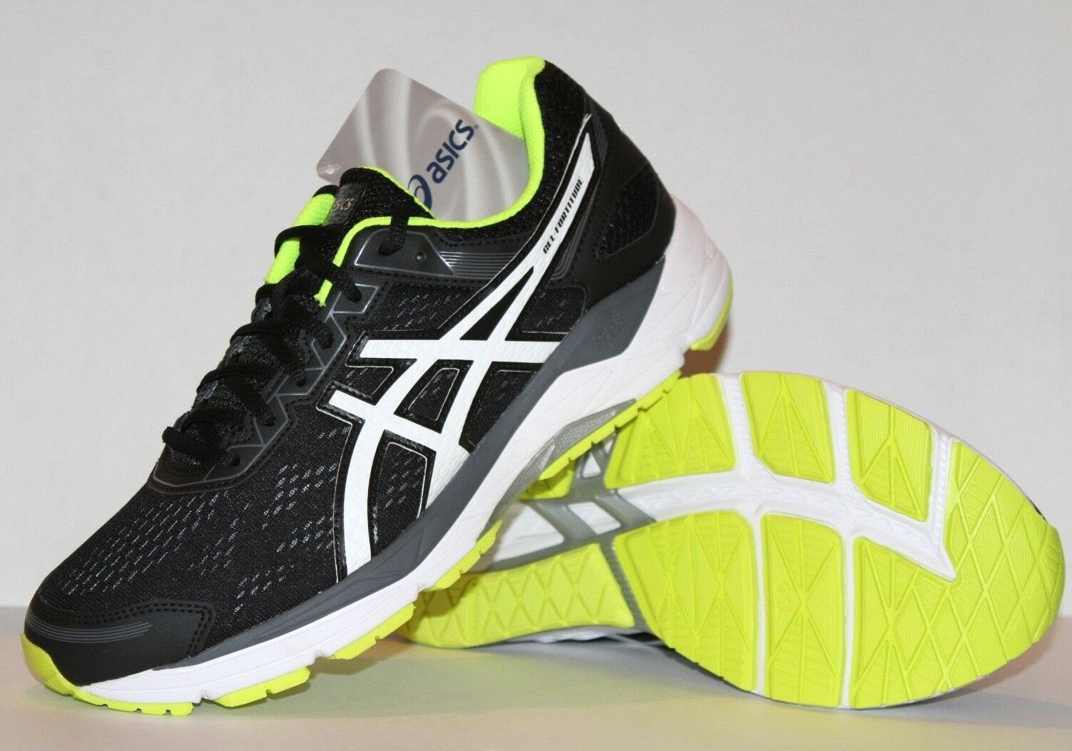 NEW ASICS GEL GEL GEL FORTITUDE 7 Running scarpe Uomo 9 9.5 nero T5G2N f06d30