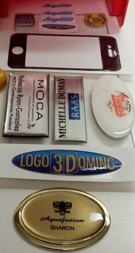 Decals Promotional Advertising products Labels create your artwork in 3D DIY