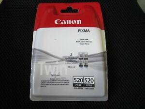 2er set twin pack original canon tintenpatronen pgi 520bk. Black Bedroom Furniture Sets. Home Design Ideas