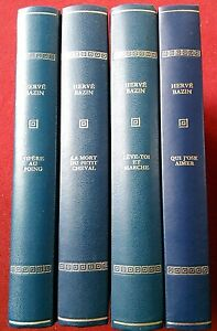 Herve-Bazin-4-volumes-editions-Rombaldi-1971-avec-illustrations