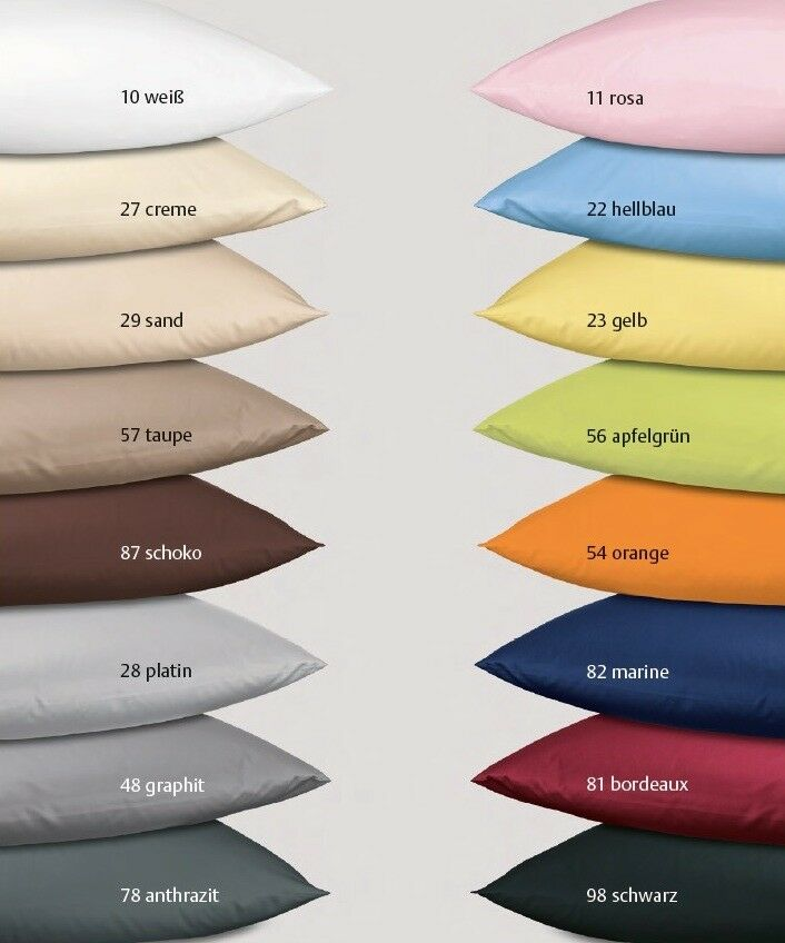 2-tlg Janine Mako Satin alle Größen Bettwäsche Bügelfrei Farbes 31001 uni neu   | In hohem Grade geschätzt und weit vertrautes herein und heraus