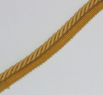 Gemotiveerd Flanged Binding/piping 8 Mm Cord, Gold. X 10 Mtrs,free P&p - Pl-3162 Hoge Veerkracht