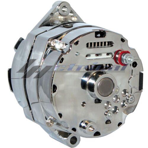 CHROME ALTERNATOR FOR CHEVY OLDSMOBILE PONTIAC BUICK GM HIGH 110AMP 12 o/'clock