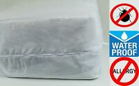 Deluxe™ Fabric Zippered Mattress Cover 100% Waterproof & Bed-bug Proof By Rl Co®
