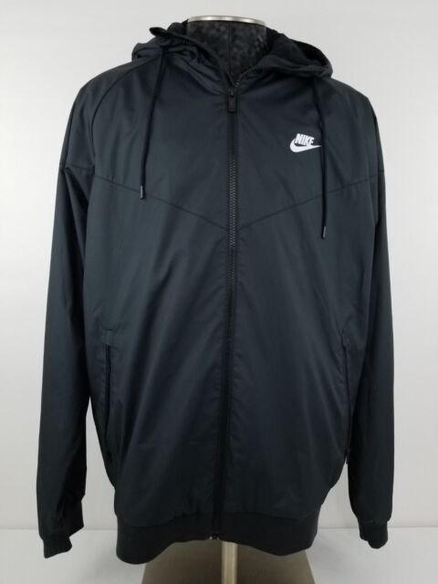 competitive price c3398 7f21d Nike Windrunner Mens 727324-010 Black Lightweight Ripstop Jacket Size 2xl