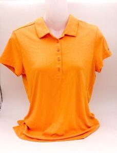 New-NIKEGOLF-Drifit-Short-Sleeve-Orange-Women-039-s-Sz-M