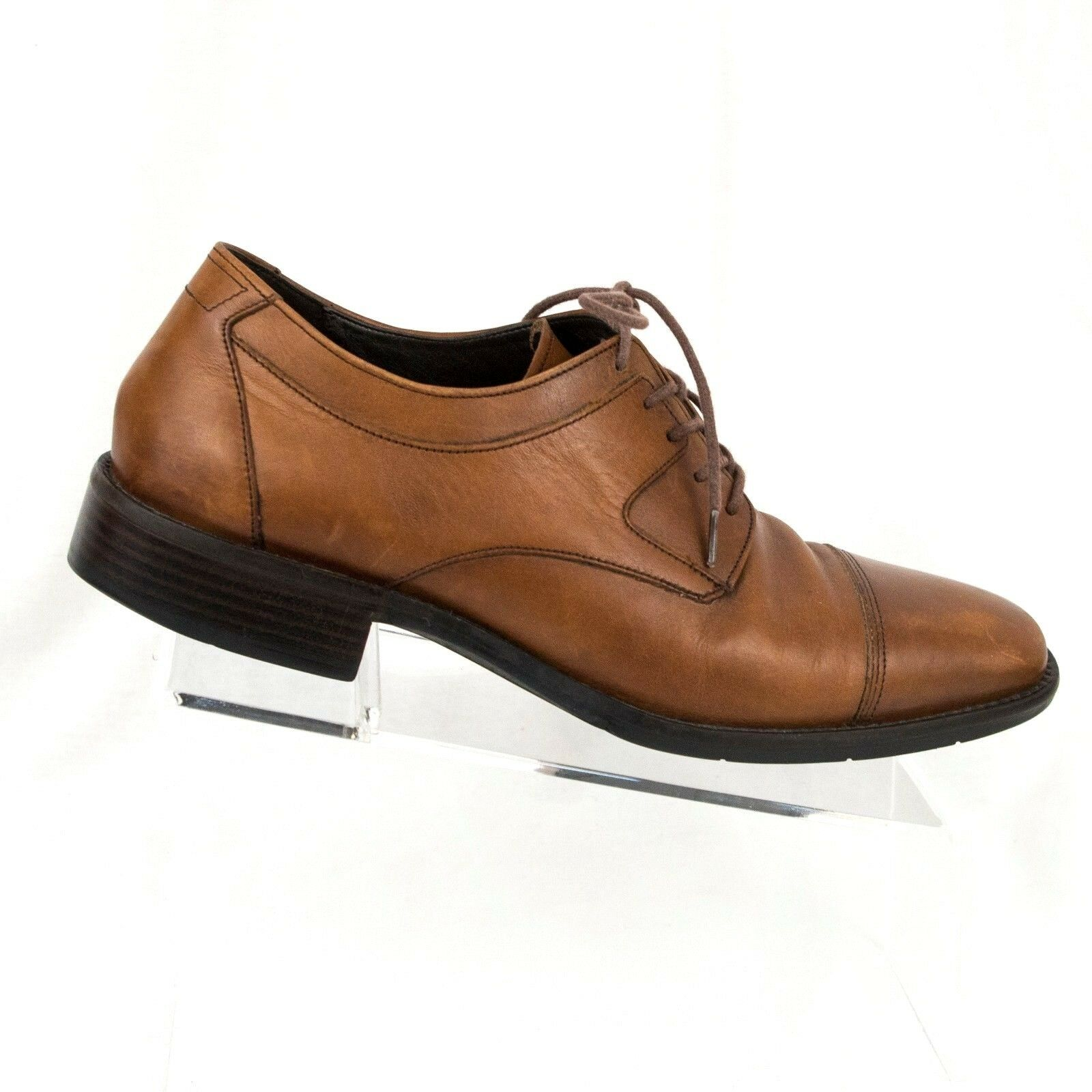 Johnston and Murphy 8.5 M 11560 Brown Leather Cap Toe Oxford 613 Lace up