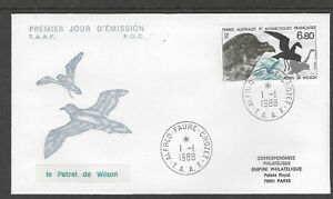TAAF-FRENCH-ANTARCTIC-1988-WILSON-039-S-PETREL-BIRDS-1v-FDC