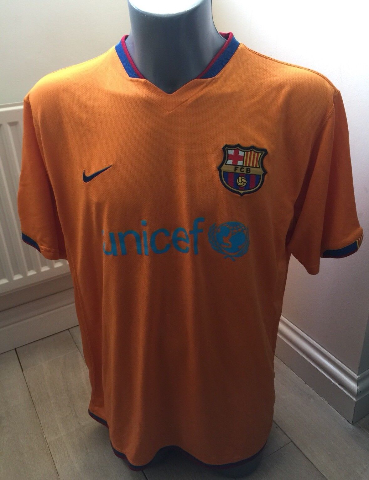 Authentic Barcelona 2006-7 Men's XL GB 45 47 Away Football Shirt EXC COND