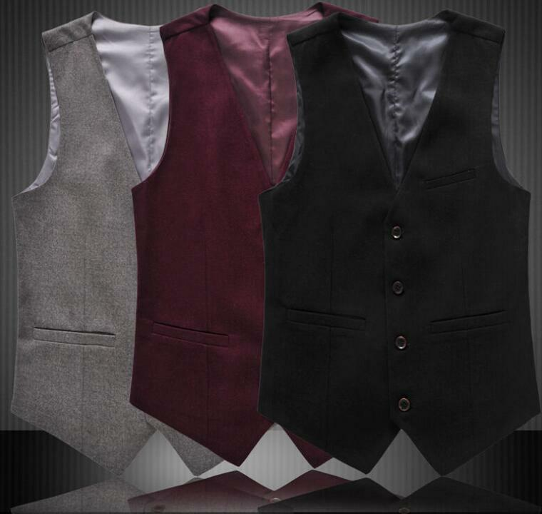 Mens Fashion Blazer Slim Fit Business Formal Dress Waistcoat Vest Sz XS-4XL