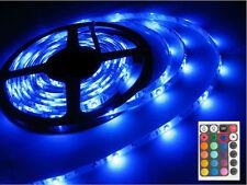 RGB 5m LED Strip Light Kit Set + 24 Key Remote + 12v UK Power Adapter SMD3528